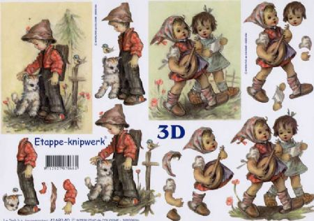 Hummel Children 3d Decoupage Craft Sheet